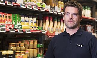 FORNØYD: Coops nye betalingsløsning gjør butikkturen litt lettere, mener Harald Kristiansen. Foto: Coop