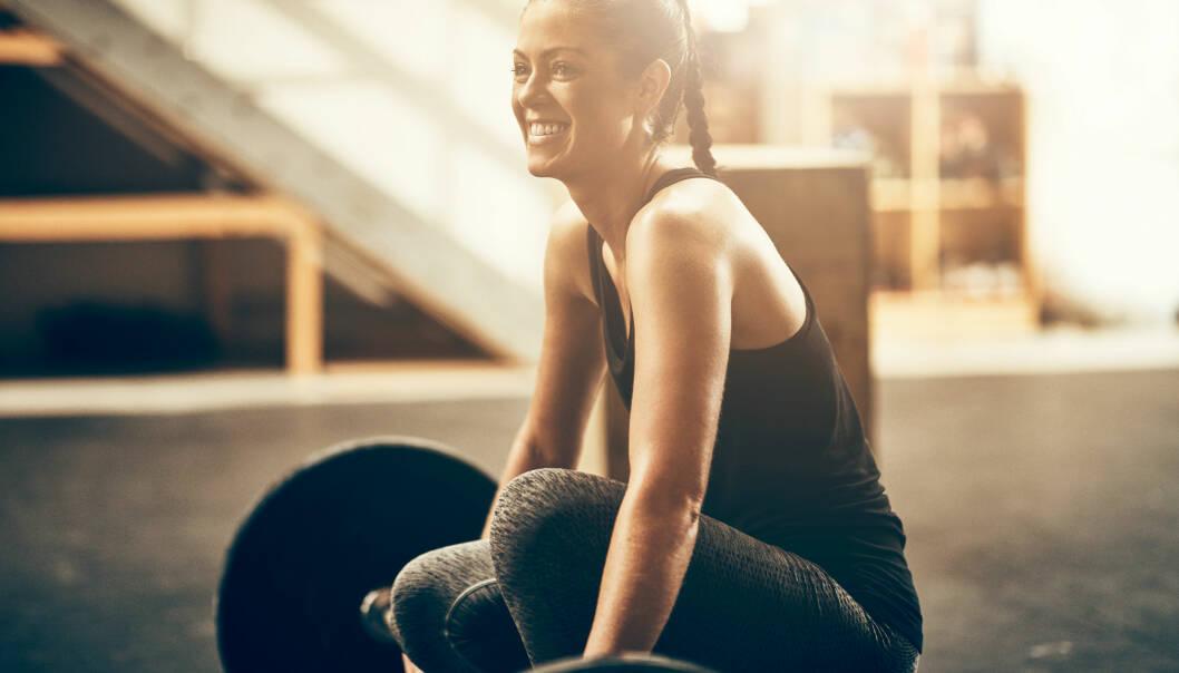 TRENING: Styrketrening har mange fordeler, men med årene mister vi mye muskelmasse. FOTO: NTB Scanpix