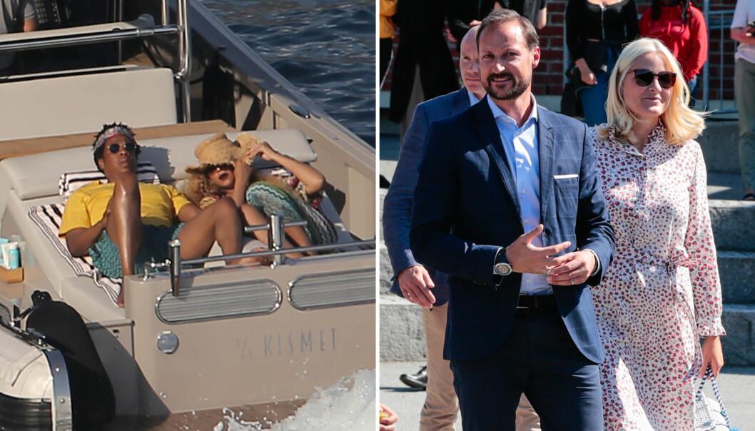 GJØR SOM KRONPRINSPARET: Beyoncé og Jay Z ferierer i Italia på luksusyacht. Dette har kronprinsparet gjort tidligere. Foto: NTB Scanpix