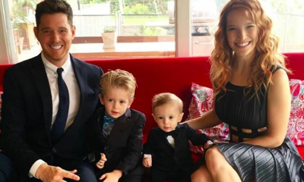 FIRE BLE FEM: Michael Bublé og Luisana Lopilato har fått en datter. Foto: Instagram/Michael Bublé
