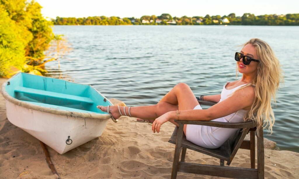 FERIE: Presidentdatter Tiffany Trump ferierer på den greske øya Mykonos sammen med Lindsay Lohan. Foto: NTB Scanpix