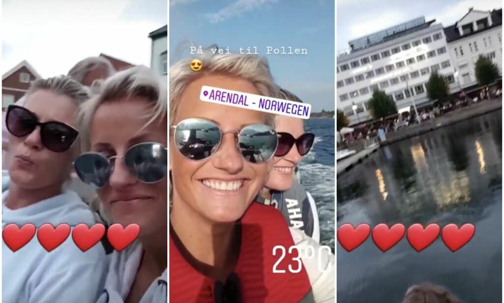 DELTE SOMMERBILDER: Kvelden før Vibeke Skofterud omkom i en vannscooterulykke, delte hun bilder på sin Insta Story. Foto: Instagram