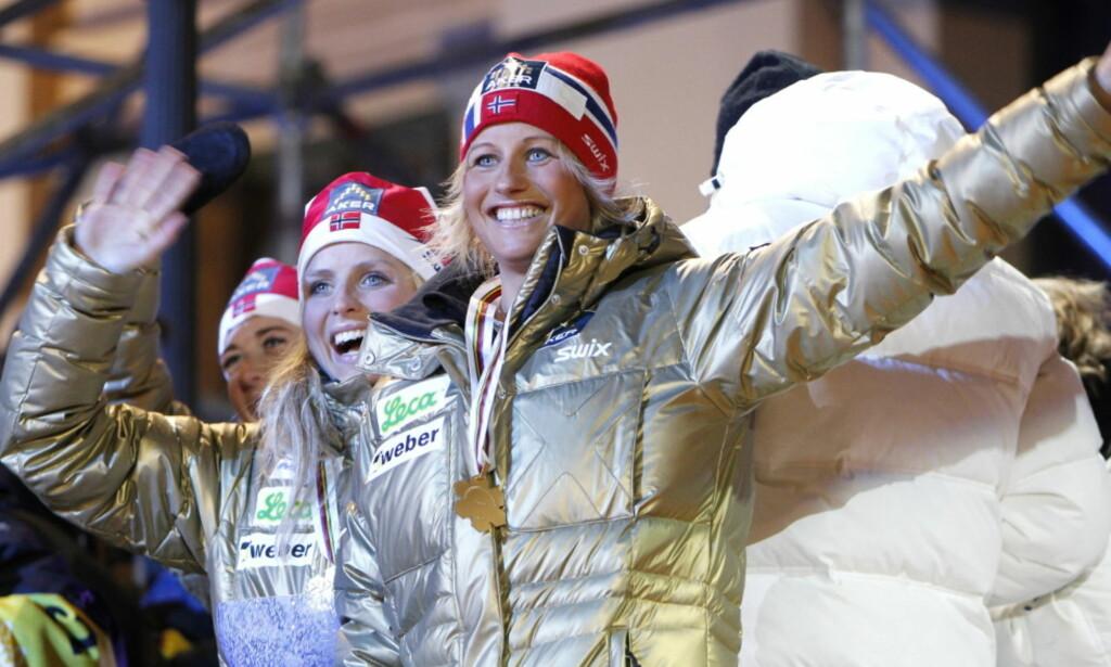 GULL-JENTE: Vibeke Skofterud tok flere gullmedaljer i sin langrennskarriere. Søndag omkom hun i en ulykke. Foto: Gorm Kallestad / NTB Scanpix