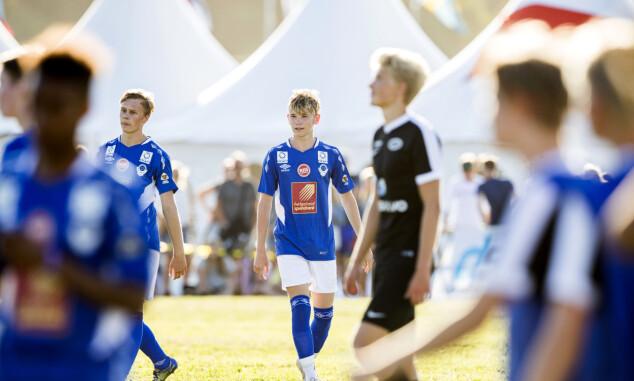 <strong>KONSENTRERT:</strong> Martinus hadde full konsentrasjon under kampen mot laget Stoppen søndag ettermiddag. Foto: Berit Roald / NTB scanpix