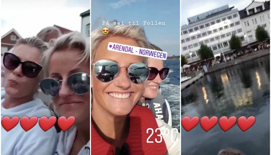 DELTE SOMMERBILDER: Kvelden før Vibeke Skofterud omkom i en vannscooterulykke, delte hun bilder på sin story på Instagram. Foto: Privat