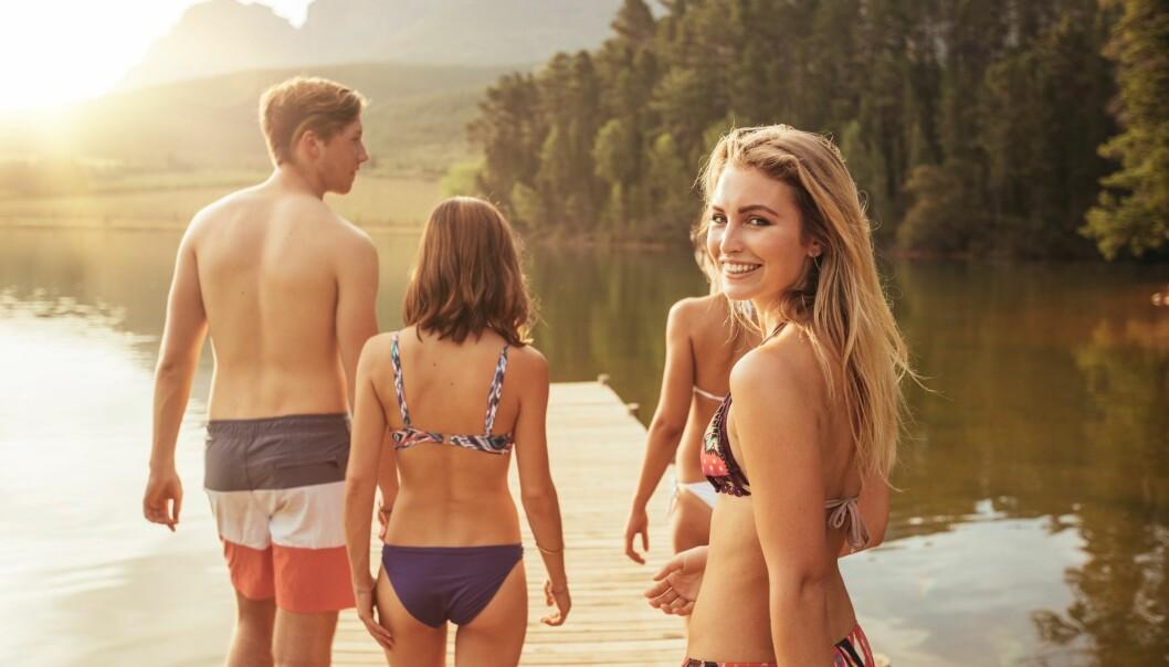 <strong>BADEVANNSKVALITET:</strong> Etter tidenes sommer har badevannet i Norge blitt mer oppvarmet enn normalt. FOTO: Scanpix