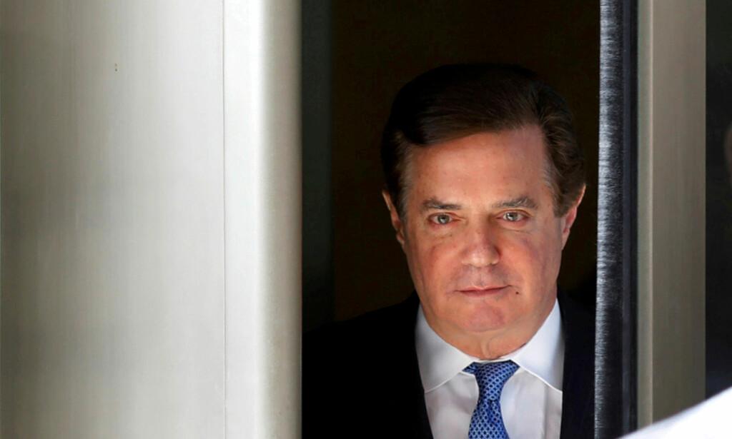 DØMT: Donald Trumps tidligere valgkampsjef, Paul Manafort, er dømt for fem tilfeller av skattesvindel, to tilfeller av banksvindel og for å ikke å ha oppgitt en utenlandsk bankkonto. Foto: REUTERS/Yuri Gripas/File Photo