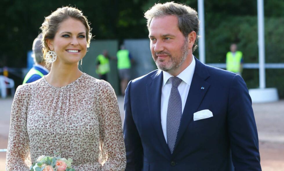 FORLATER SVERIGE: Prinsesse Madeleine og ektemannen tar med seg barna til USA. Det bekrefter det svenske hoffet i en pressemelding torsdag. Foto: NTB Scanpix