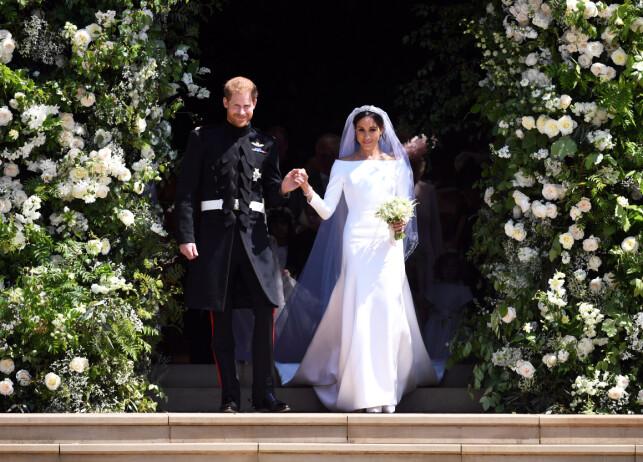MANN OG KONE: For bare noen måneder siden het hertuginen Meghan, Meghan Markle. I dag feirer hun sin første bursdag som kongelig. Foto: NTB Scanpix