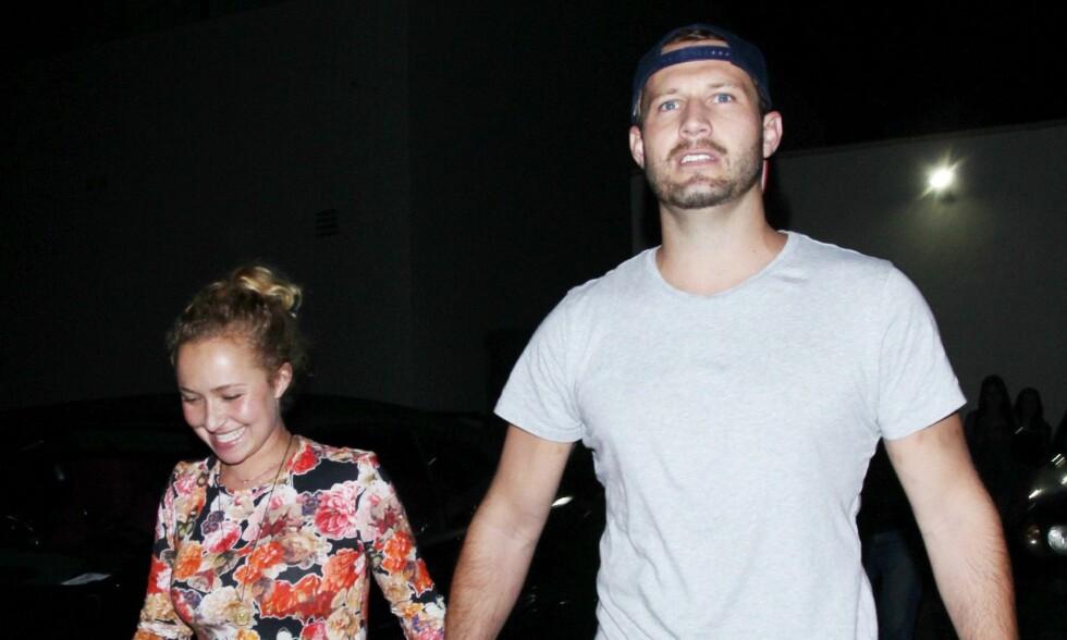 MYSTISK MANN: Ingen visste at Hayden Panettiere har gått fra forloveden etter ni år. Nå er hun blitt observert med en ny, mystisk mann. Foto: NTB Scanpix