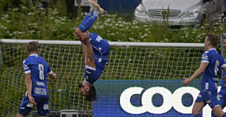 image: Akrobatisk feiring i historisk seier