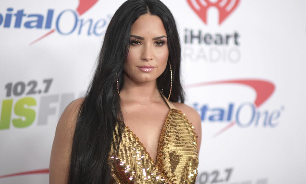 INNLAGT: Demi Lovato har for første gang ytret seg etter at hun ble innlagt på sykehus for to uker siden. Foto: Richard Shotwell / Invision / AP / NTB scanpix