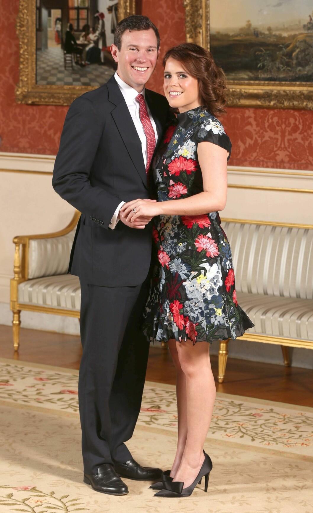 FORLOVELSE: Eugenie og Jack forlovet seg 22. januar 2018. FOTO: NTB Scanpix