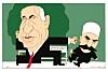 Finn Graffs karikatur av Netanyahu som nazist
