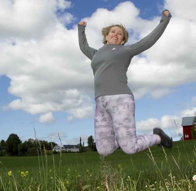 <strong>HOPPENDE GLAD:</strong> Margaret Leirvik er glad hun taklet den såkalte 40-års krisen ved å endre livsstil. Etter to år på Grete Roede kurs, er hun kåret til «Årets slanker 2018». FOTO: SVEND AAGE MADSEN / SE OG HØR