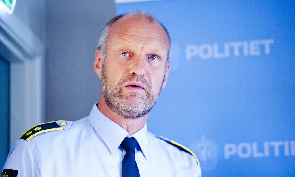 ETTERFORSKNINGSLEDER: Kriminalsjef Knut Vidar Vittersø ved Larvik politistasjon leder etterforskningen. Foto: Jon Olav Nesvold / NTB Scanpix