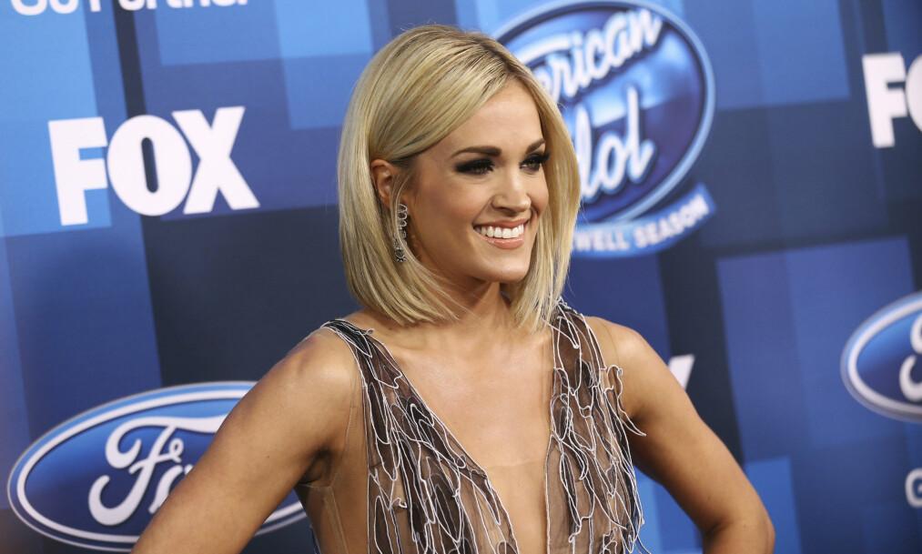 <strong>GRAVID:</strong> Carrie Underwood avslørte nyheten om at hun venter barn på Instagram. Foto: NTB Scanpix