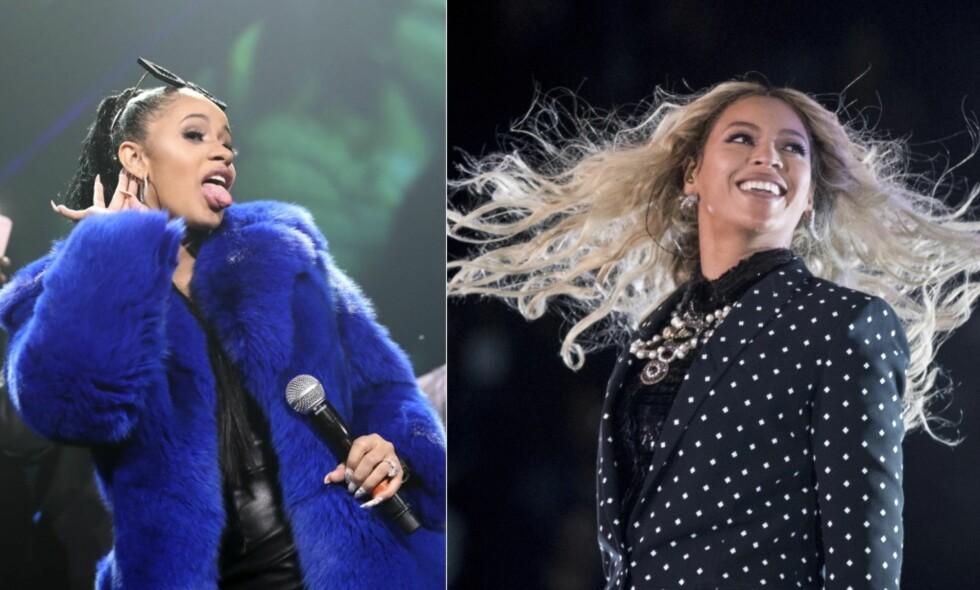 EIER BARNAS NAVN: Både Cardi B og Beyoncé har søkt om rettigheter til sine egne barns navn. Foto: NTB Scanpix