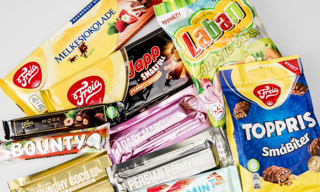 SØTE NYHETER: Det er mye nytt i godterihylla. Vi har smakt oss frem til de beste.