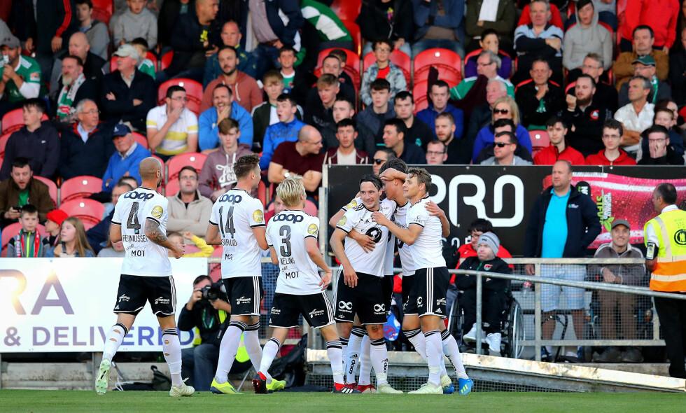 SEIER: Rosenborg slo Cork City torsdag kveld, og mye skal gå galt om det nå ikke blir Europa League-playoff. Foto: Ryan Byrne / INPHO / NTB scanpix