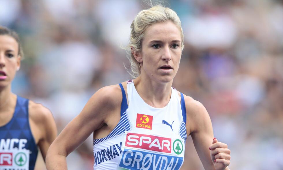 ÅRETS SISTE: Karoline Bjerkeli Grøvdal løp under Diamond League-stevnet i Brussel i kveld. Foto: Fredrik Hagen / NTB scanpix