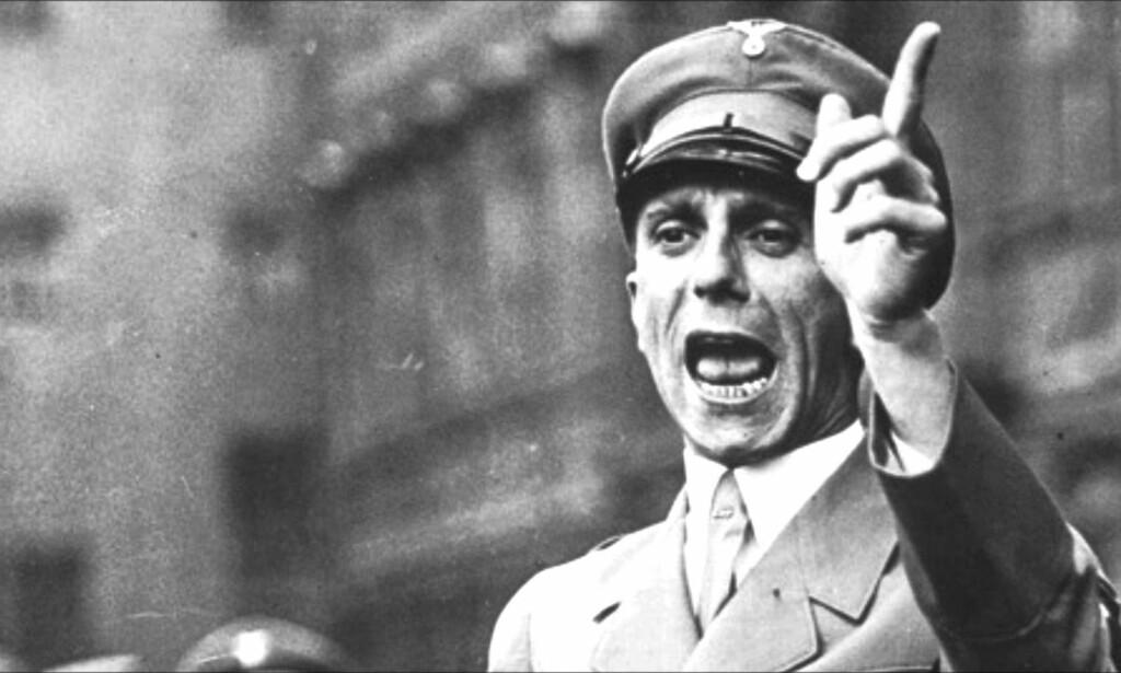 TOTAL KRIG: Joseph Goebbels mente filmen «Kolberg» ville oppildne det tyske folk til total krig mot fienden. Foto: Bundesarchiv/Wikimedia Commons