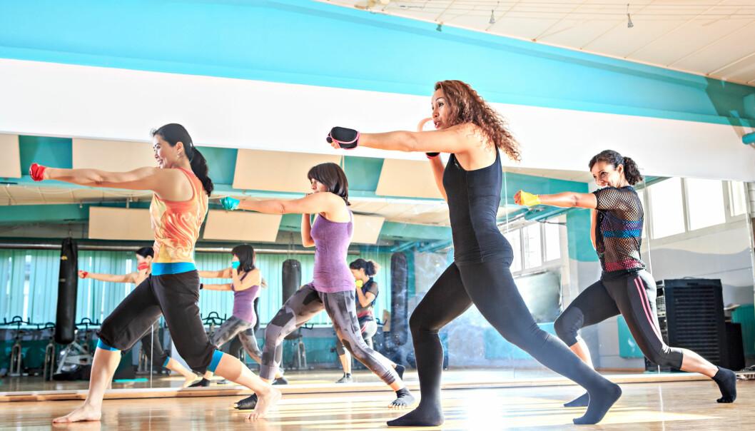 PILOXING: Piloxing er også en sprø spleis av flere treningsformer. Som navnet tilsier – pilates og boksing, og konseptet er i tillegg ispedd litt dans. FOTO: NTB Scanpix