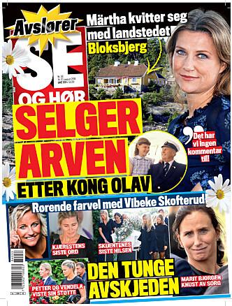 <strong>SELGER:</strong> Se og Hør kan i dag røpe at Märtha Louise vil selge Bloksbjerg. Foto: Faksimile