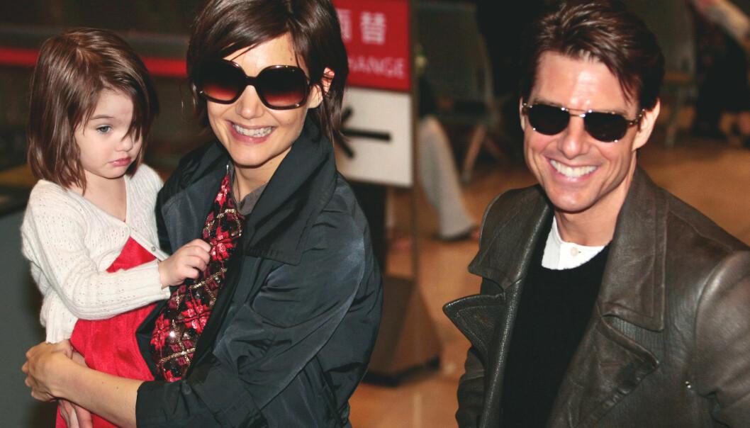 <strong>GIKK HVER TIL SITT:</strong> Skuespillerne Katie Holmes og Tom Cruise har datteren Suri sammen. Foto: NTB scanpix