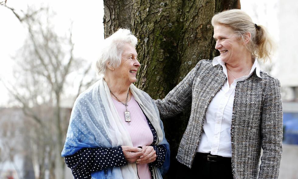 HANDLINGSROM: Det er viktig å ta økonomiske grep for å realisere ønsker knyttet til pensjonisttilværelsen, mener Christin Engelstad (t.h.) og Audhild Freberg Iversen. Foto: Britt K. Andersen