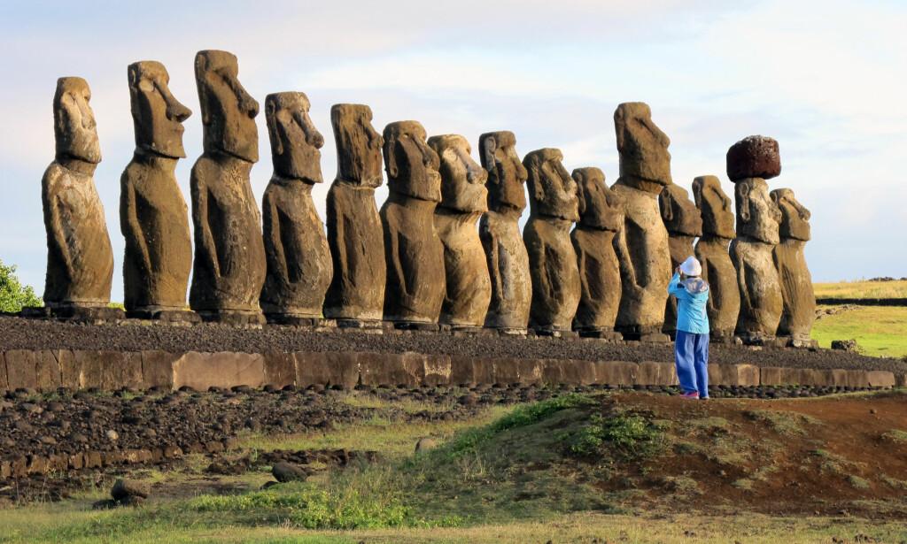 UNESCO-ARV: Påskeøya med alle sine statuer står på Unescos verdensarvliste. Foto: NTB Scanpix