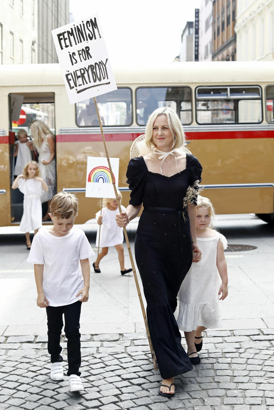 Marian Saastad Ottesen og barna Foto: Getty Images
