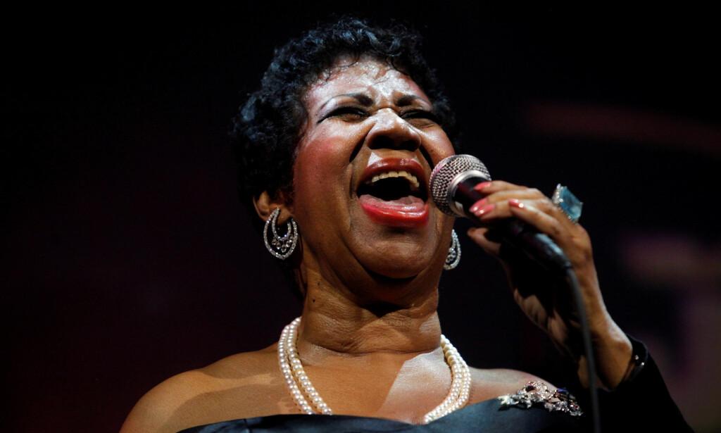 GÅTT BORT: Aretha Franklin døde i sitt hjem i Detroit i dag, torsdag. Foto: NTB Scanpix