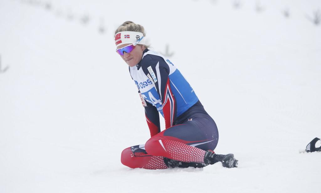 KOLLAPSET: Kathrine Harsem (29) kollapset etter målgang under fredagens fellesstart på rulleski i Toppidrettsveka. Her fra NM på ski i 2017. FOTO: NTB scanpix / Bendiksby, Terje