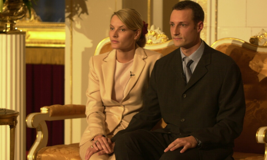 NOTE: Crown Prince Haakon is engaged to Mette-Marit Tjessem Høiby, where the couple holds a press conference. oto: Ole C.H. Thomassen / Dagbladet