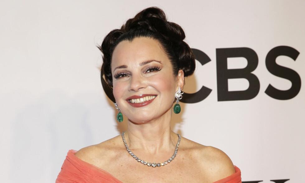 KJENT FOR SIN STEMME: Fran Drescher (60) ble kjent for sin skjærende stemme i «The Nanny» på 90-tallet. Stemmen har skuespilleren utnyttet godt siden den gang. Foto: NTB Scanpix