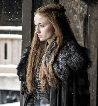 STOR ROLLE: Sophie Turners rolle i «Game of thrones» har gjort henne verdensberømt. Foto: HBO / NTB Scanpix