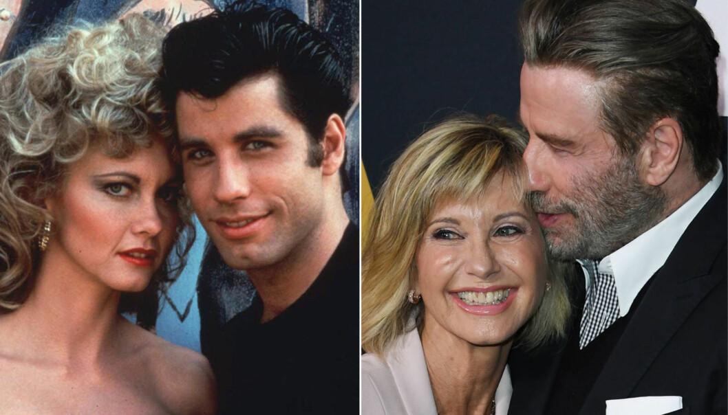 1978 OG 2018: Olivia Newton-John (69) og John Travolta (64) regnet som et verdens mest ikoniske par på lerretet. Torsdag møttes de igjen, 40 år etter at filmen ble spilt inn. Foto: NTB Scanpix