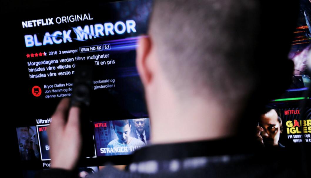 <strong>REKLAME PÅ NETFLIX:</strong> Om litt kan du ende opp med å få reklameavbrudd på Netflix. Foto: Ole Petter Baugerød Stokke