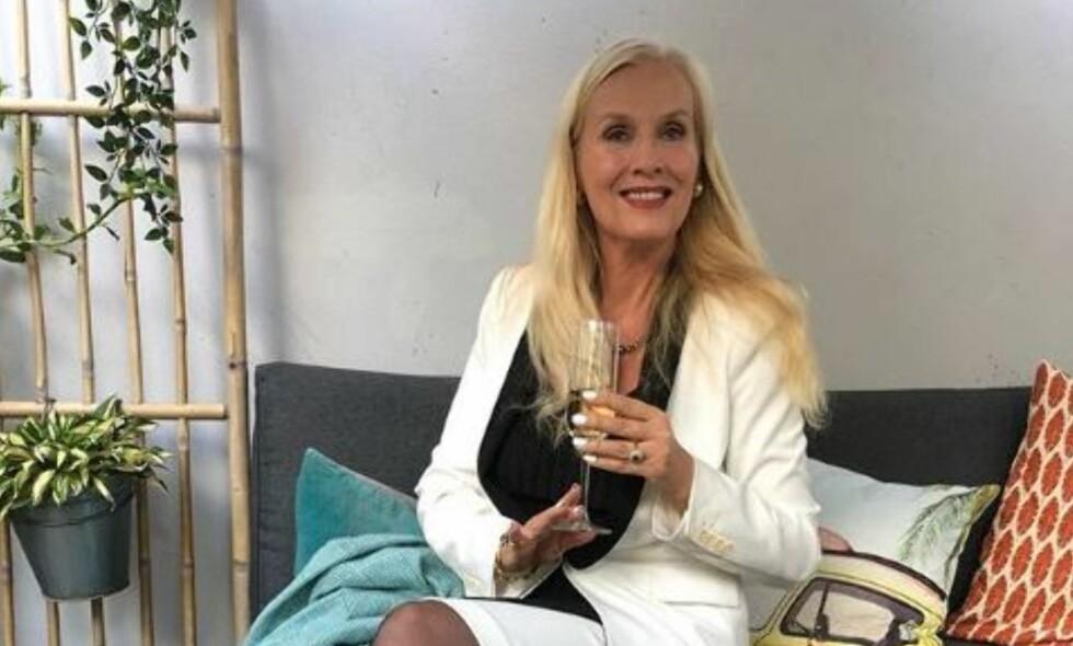 I NORGE: Svenske Gunilla Persson befinner seg for tiden i Norge for innspilling til en norsk TV-serie. Foto: Privat
