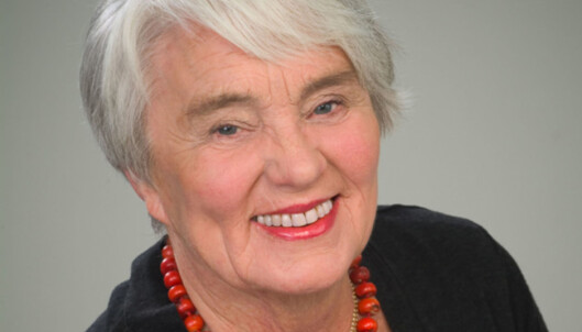 BLIR BEDRE: Trivselen øker og man er endelig tilstede i øyeblikket, mener 80-åringen Ingeborg Moræus Hanssen. Hun har skrevet flere bøker om det positive rundt alderdom. Foto: John Andresen