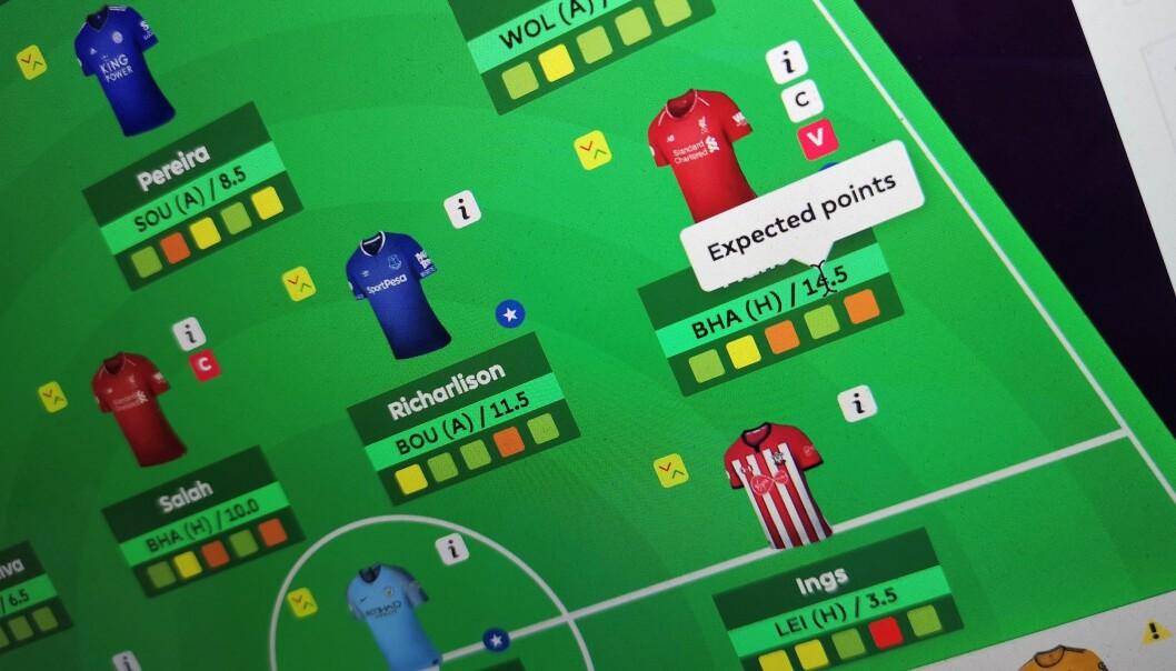 <strong>BLI BEDRE:</strong> Med nettleserutvidelsen Better FPL, får du mer informasjon på nettsidene til Fantasy Premier League. Foto: Pål Joakim Pollen