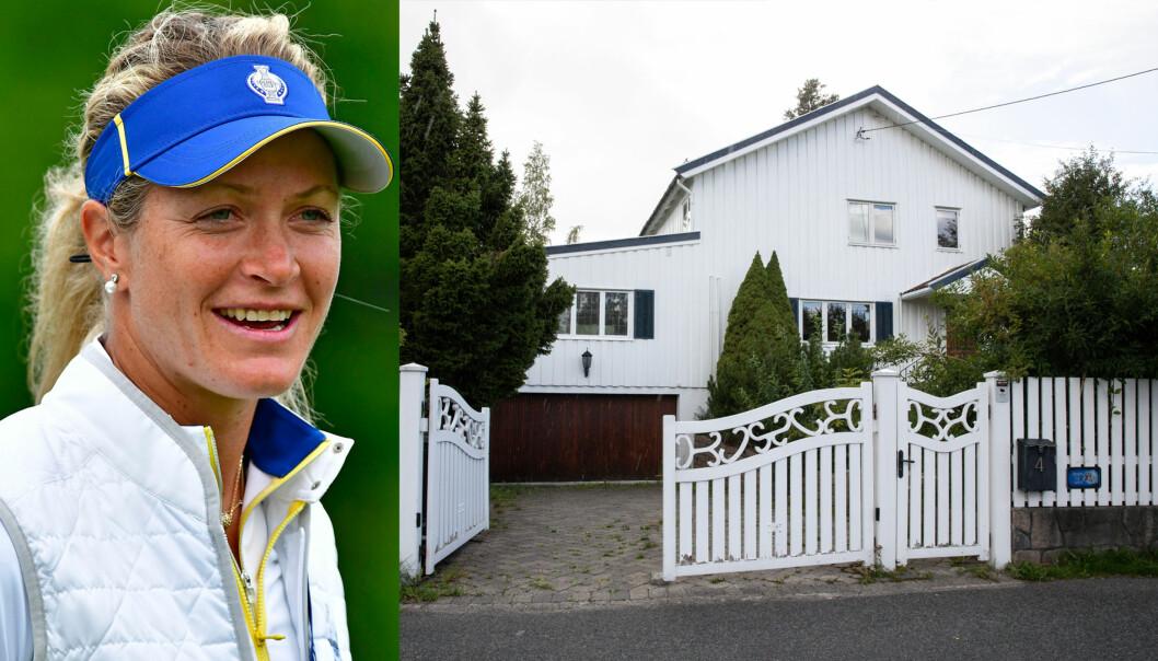 NY BOLIG: Golfstjernen Suzann «Tutta» Pettersen bladde opp 19 millioner kroner for dette huset på Holmen i Oslo. Foto: NTB scanpix / Andreas Fadum
