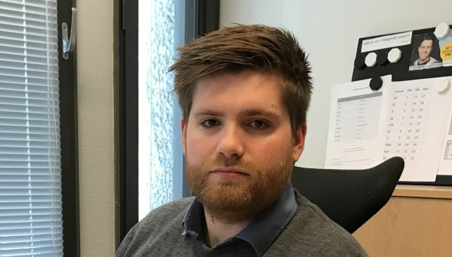 WANT TO CHANGE: David Pletten Aasgard, head of the KrFU in Hordaland, has three provincial teams in the requirement that the KrF management should replace Geir Jørgen Bekkevold as spokesman for the Storting family. Photo: private