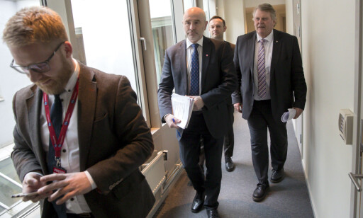 YOU SHOULD HAVE AN ANSWER: chairman of the Inspection and Constitution of the Storting, Dag Terje Andersen (AP), Hans Fredrik Grøvan (KrF) and Torgeir Knag Fylkesnes (SV).