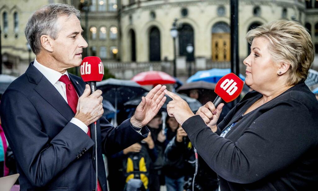 Har ansvar: Både Erna Solberg og Jonas Gahr Støre må skjerpe innsatsen for folk som faller utenfor arbeidslivet. Foto: Thomas Rasmus Skaug / Dagbladet