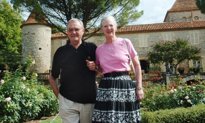 DRØMMESTED: Dronning Margrethe og prins Henrik tilbrakte flere sommerferier sammen på vinslottet sitt i Frankrike. Foto: NTB Scanpix