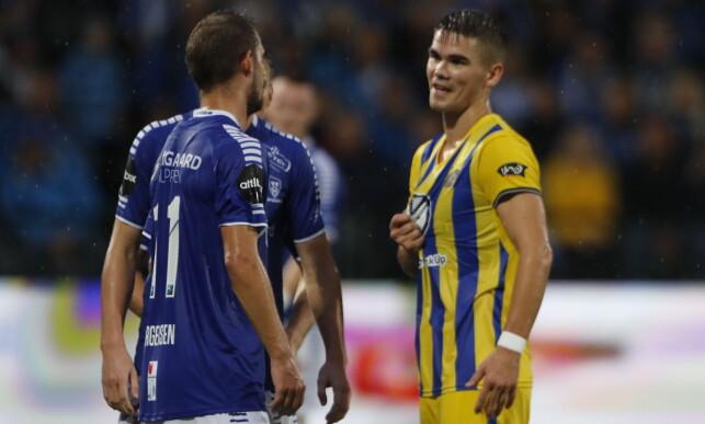 MÅLGARANTIST: Tidligere VIF-spiss Vidar Örn Kjartansson scoret 2-1-målet til Maccabi Tel Aviv. Foto: Bjørn Langsem / Dagbladet