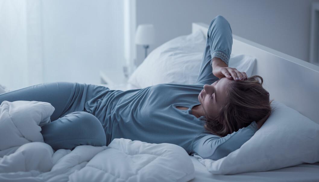 IKKE UVANLIG: ‒ Vi regner med at omtrent en tredel har problemer med søvnen innimellom, sier eksperten. FOTO: NTB Scanpix