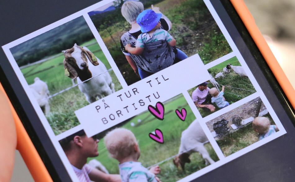 SETT SAMMEN BILDER: Med Pic Collage er det enkelt å lage fine fotokollasjer med mobilbildene dine. Foto: Kirsti Østvang